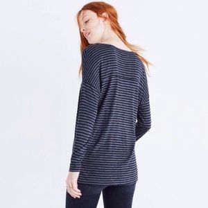 [Madewell] Anthem LS V-Neck Tee in Stripe